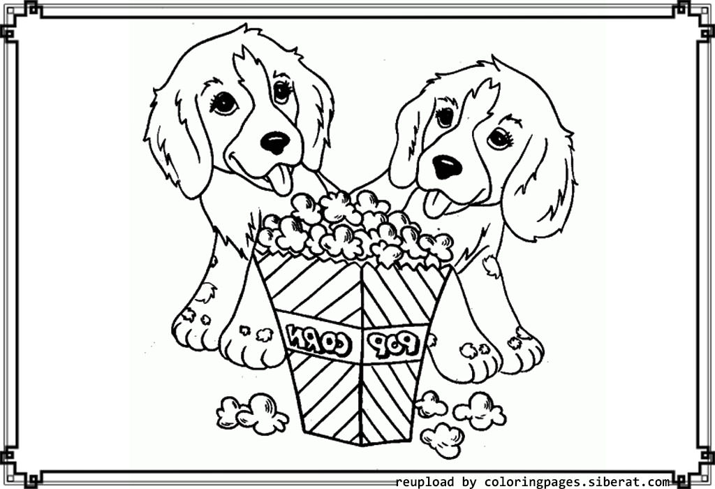Popcorn coloring pages to download