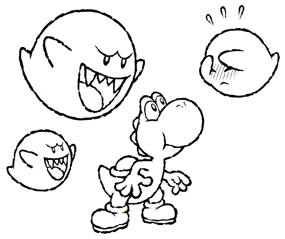 Yoshi coloring pages to download
