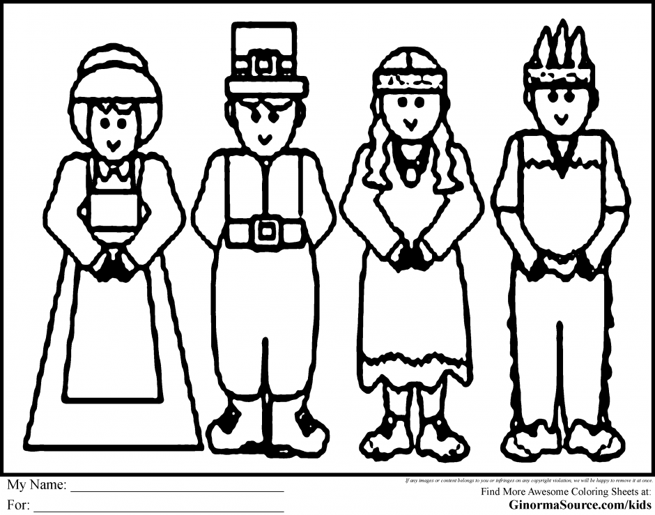 Pilgrim coloring pages to download