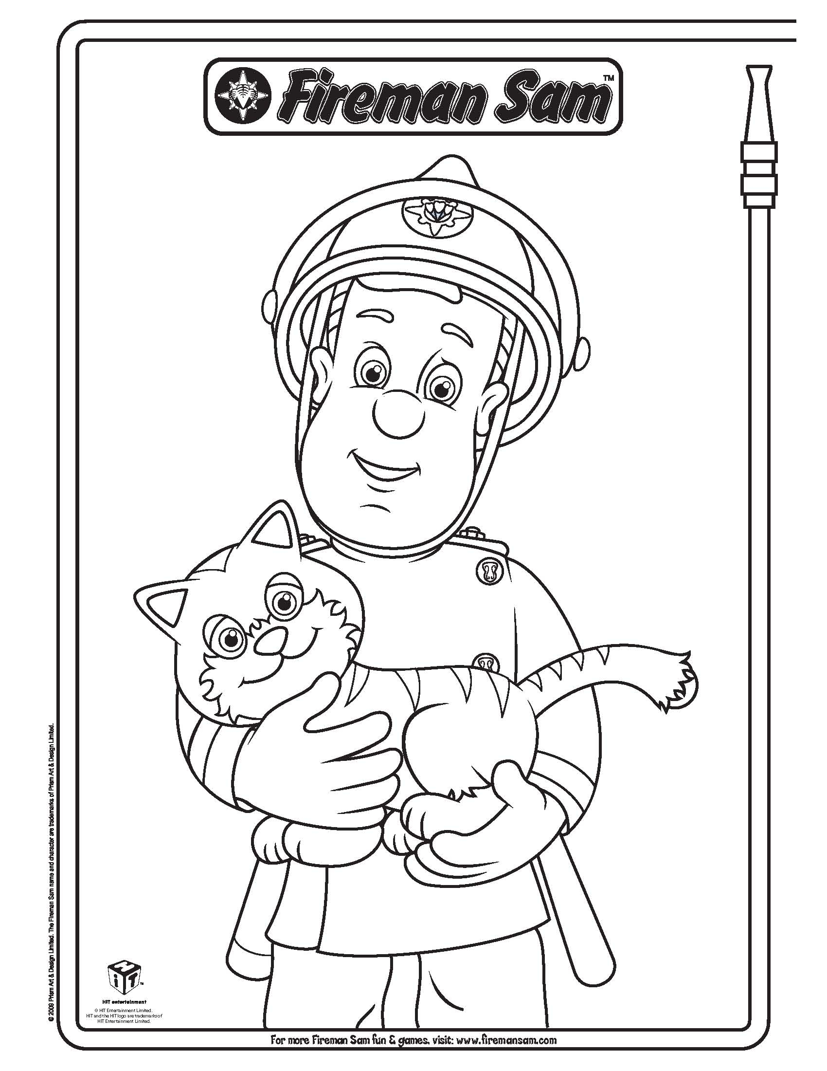 Fireman sam coloring pages to download