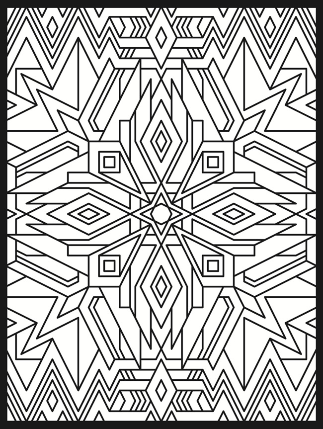 optical illsion coloring pages - photo#16