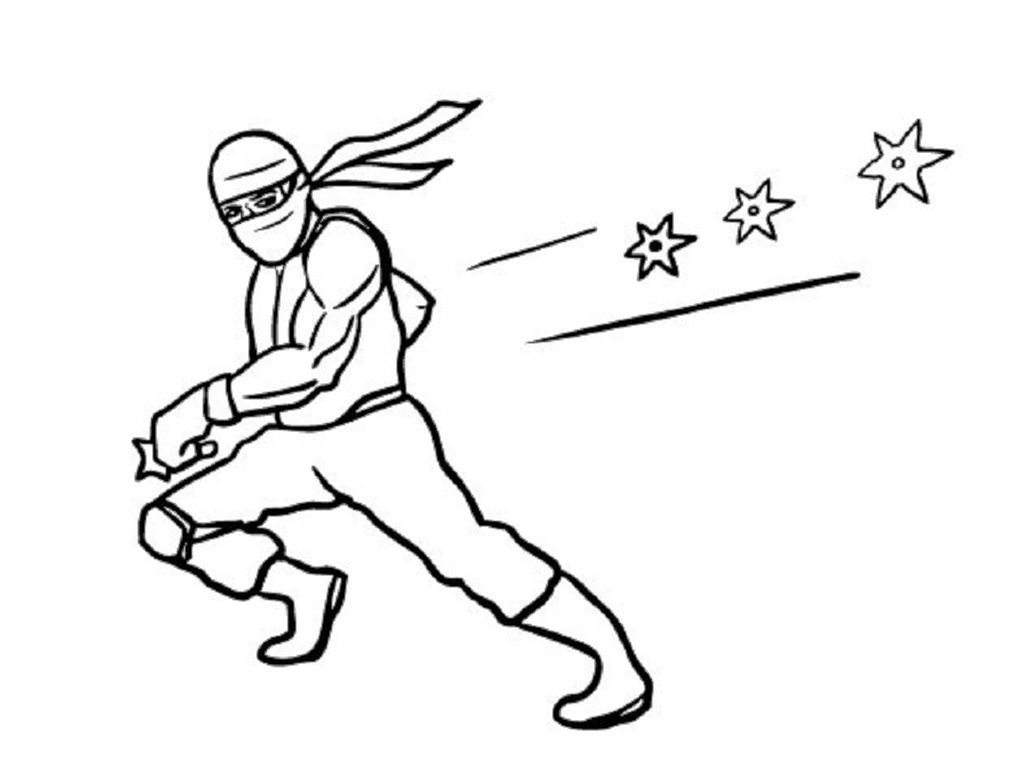 free ninja star coloring pages - photo#2