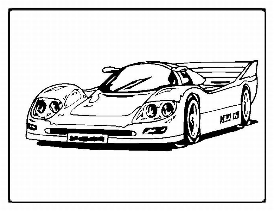 muscle car coloring pages race cars