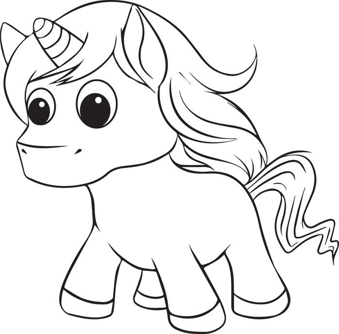 Coloring Pages For Unicorns : Unicorn coloring pages to download and print for free
