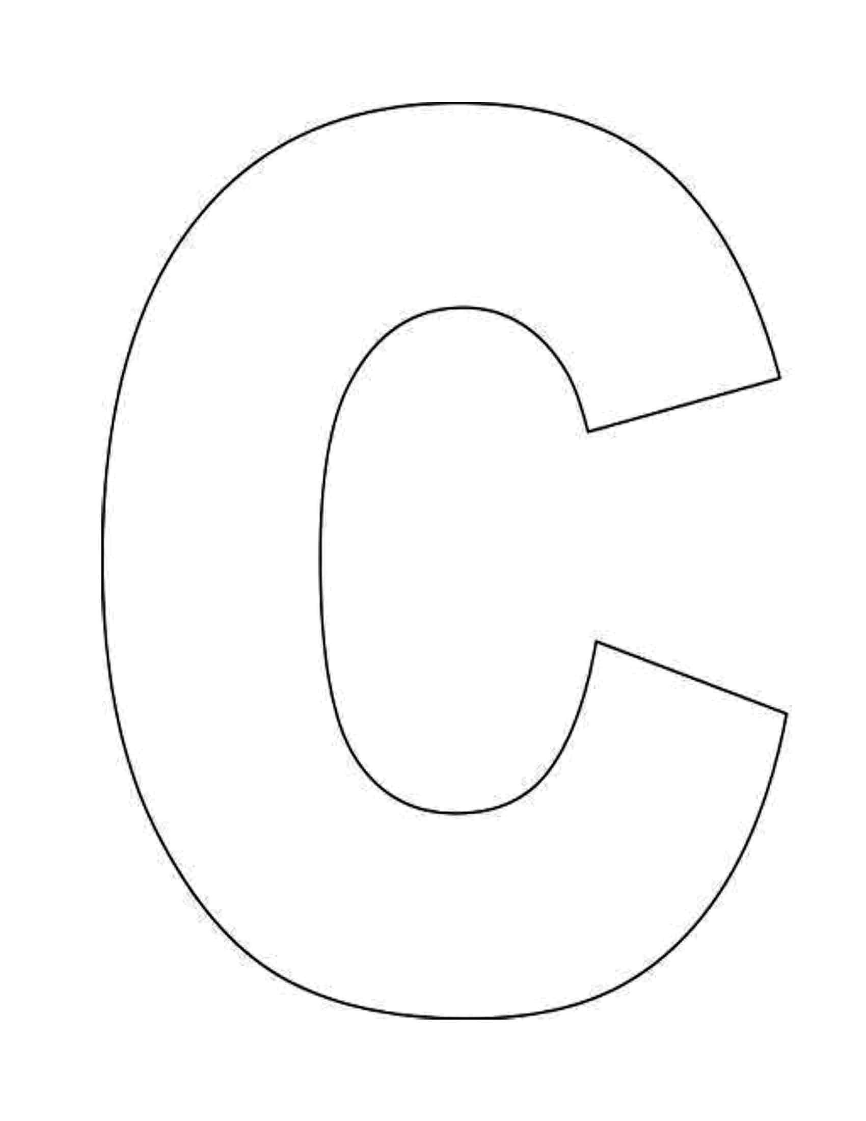 Letter c coloring pages to download