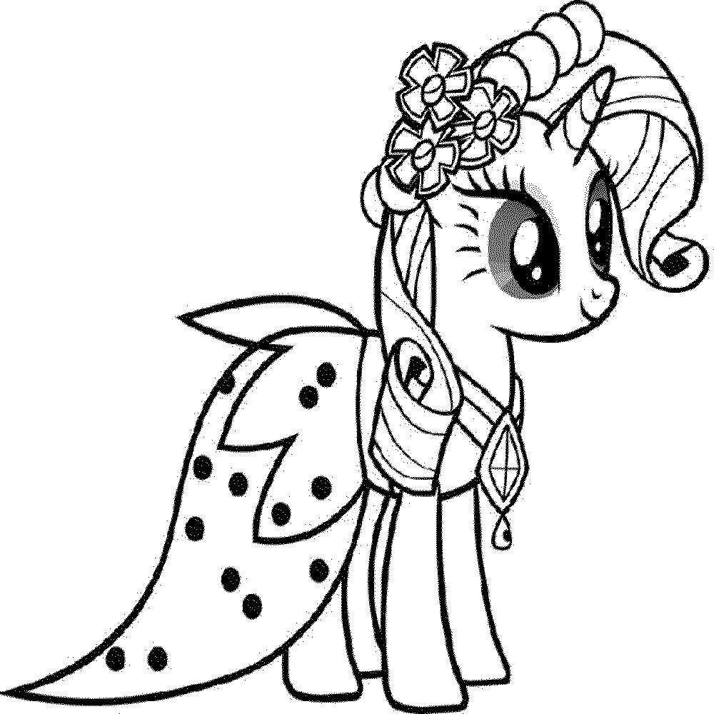 My Little Pony Christmas Coloring Pages To Download And