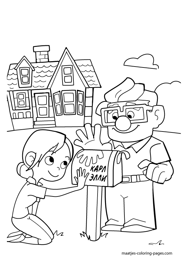 Up coloring pages to download and