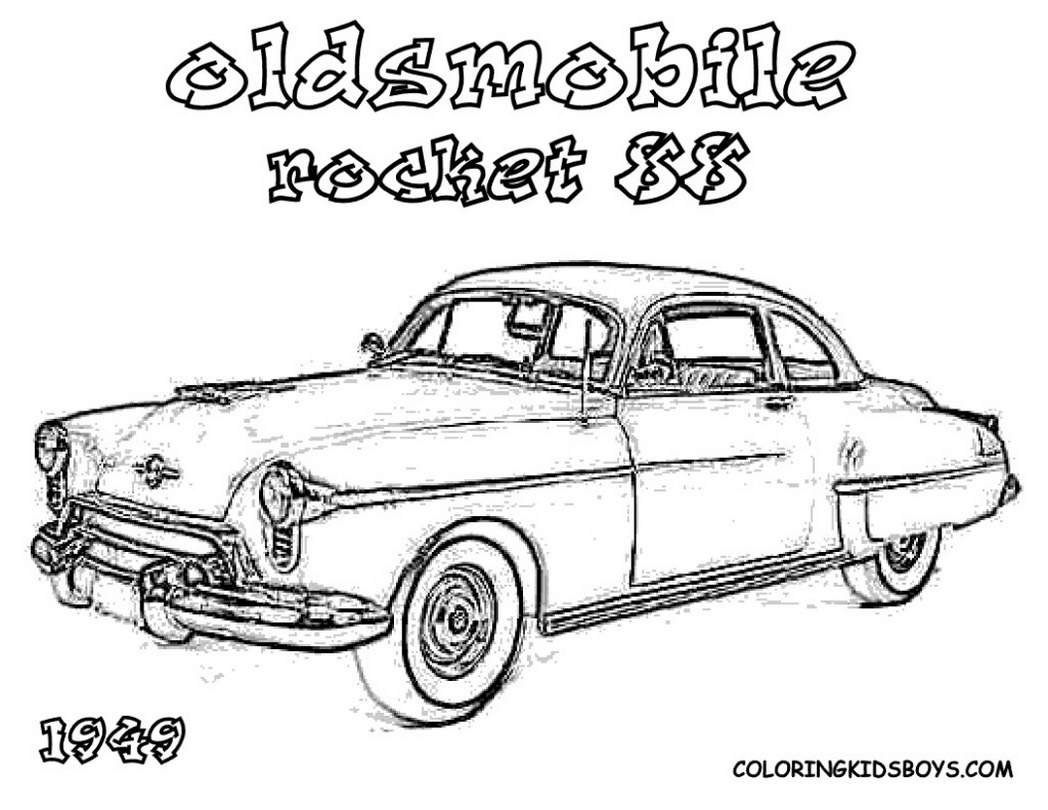 Hot rod coloring pages to download