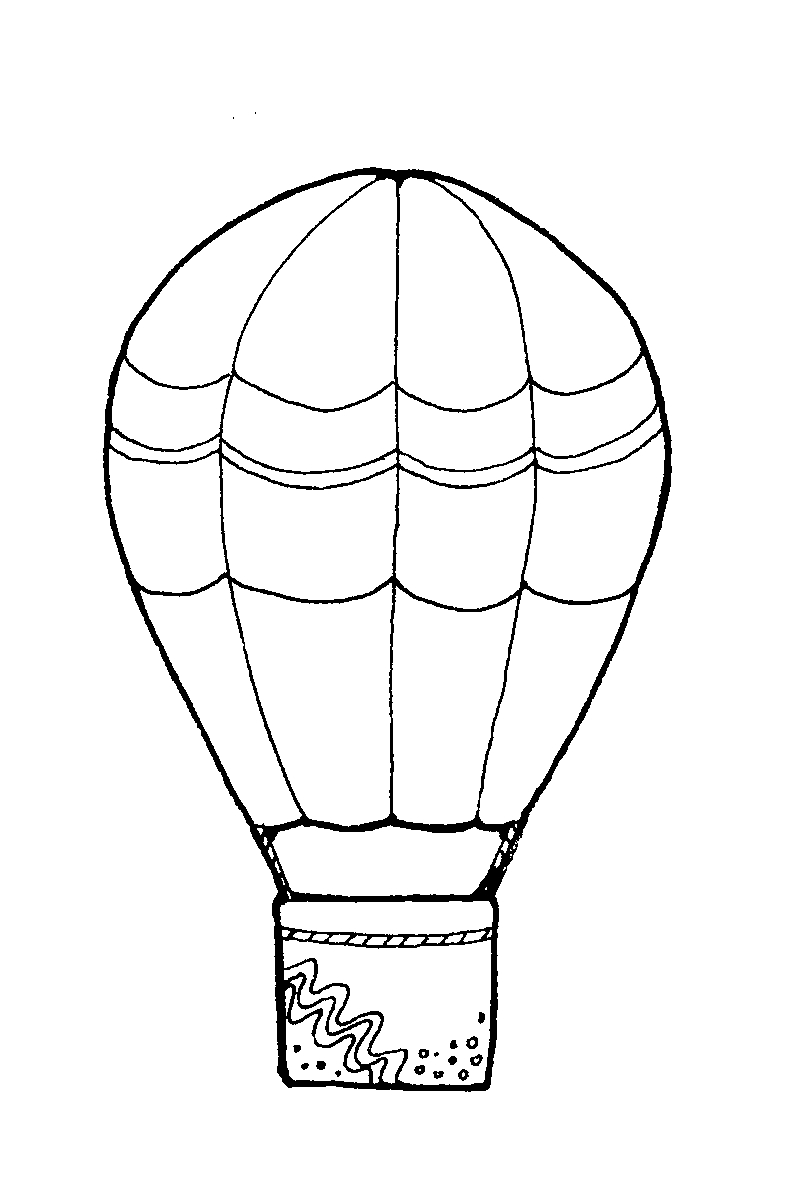Printable coloring pages hot air balloons - Hot Air Balloon Coloring Pages