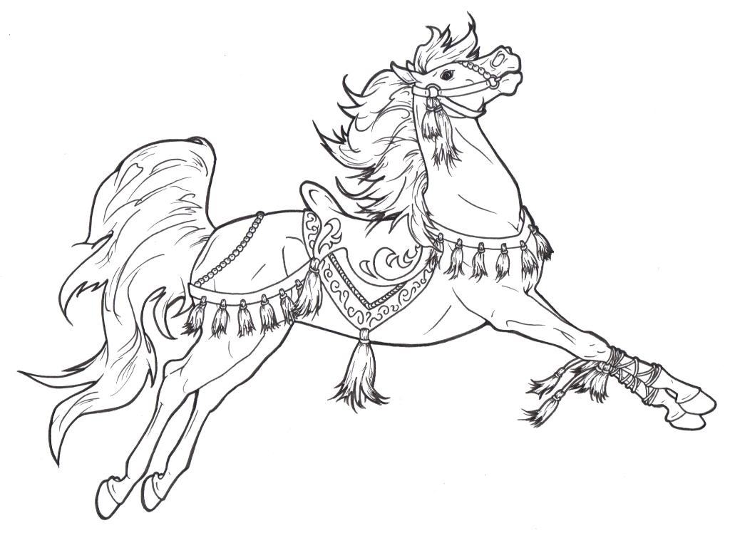 Horse coloring pages to download and print for free