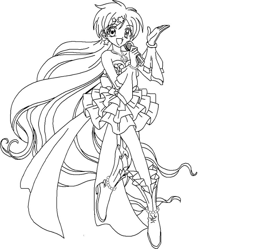 Mermaid melody coloring pages to download and print for free
