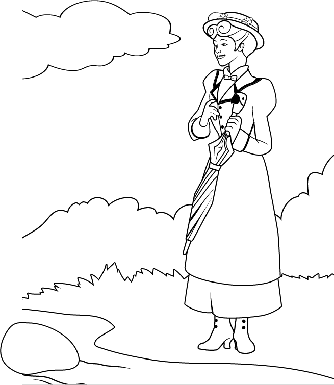 Mary Poppins Coloring Pages To Download And Print For Free