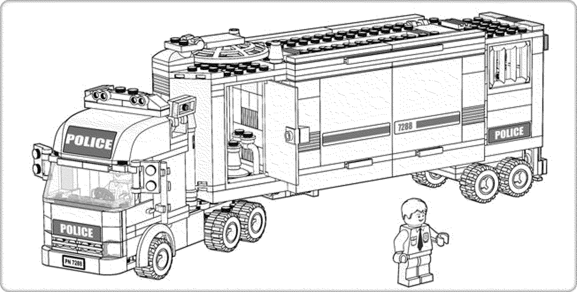 city police lego coloring pages - photo#31