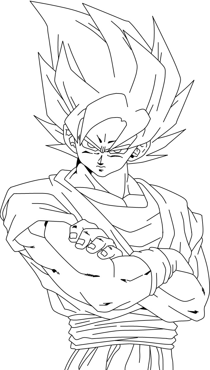 Coloring pages goku - Goku Coloring Pages