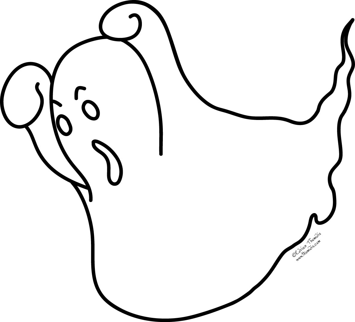 coloring pages on ghosts reading - photo#11