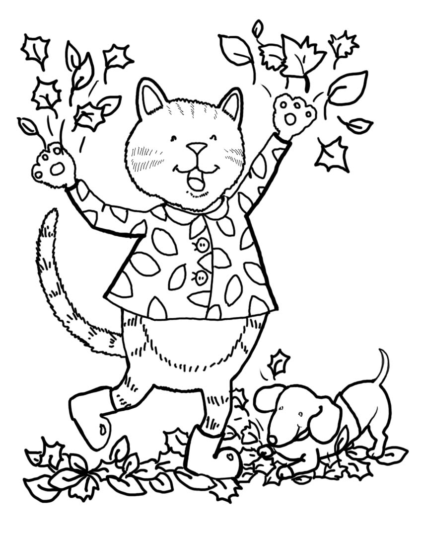 Fall coloring pages to download and print for free