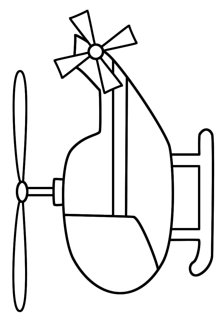 Helicopter coloring pages to download