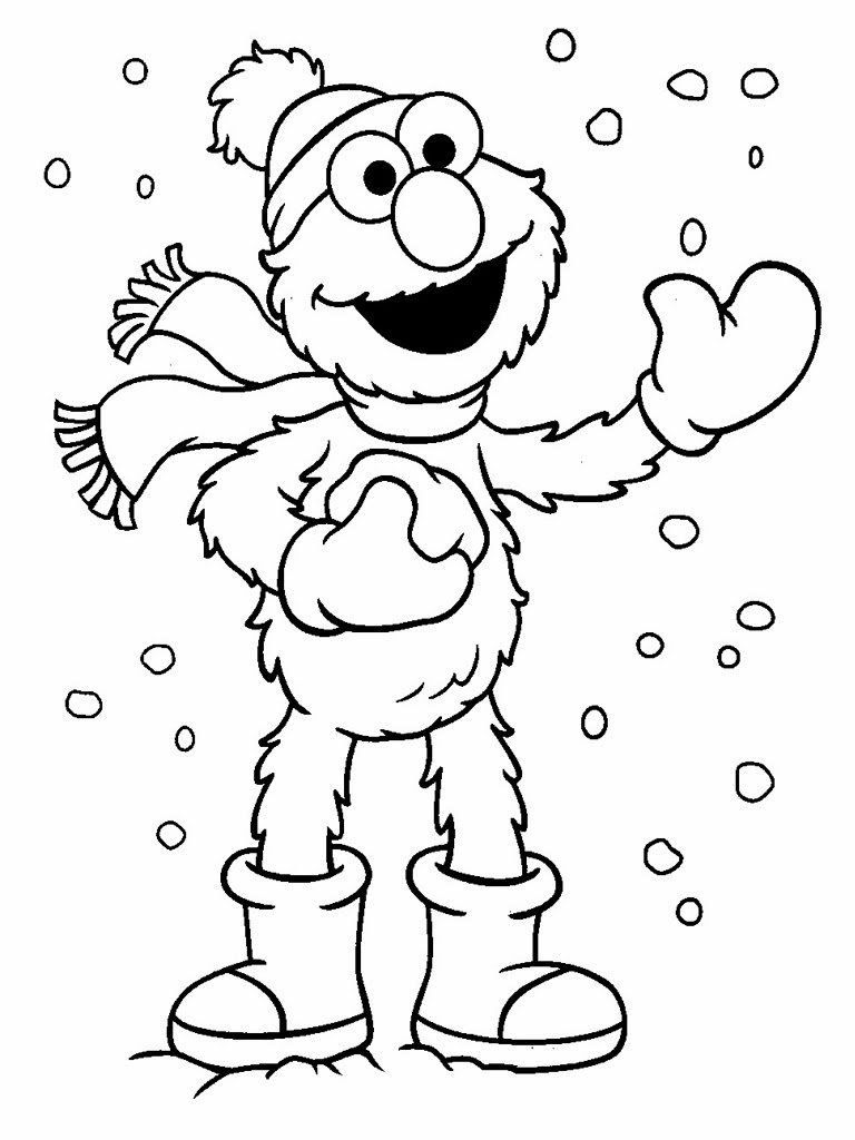 Elmo coloring pages to download and print for free