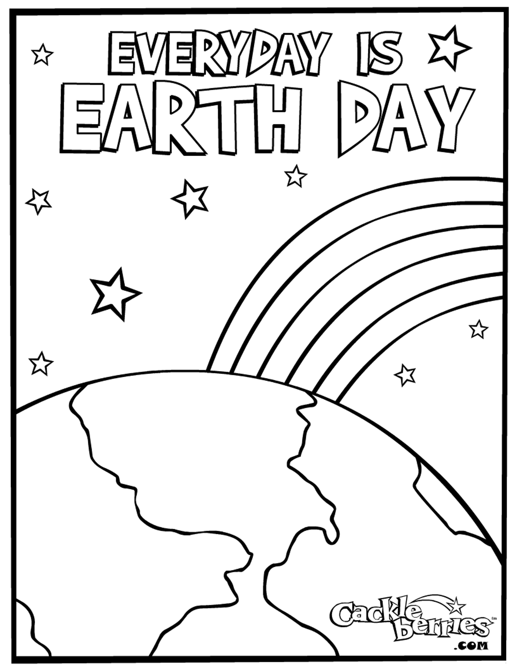 Earth coloring pages to download