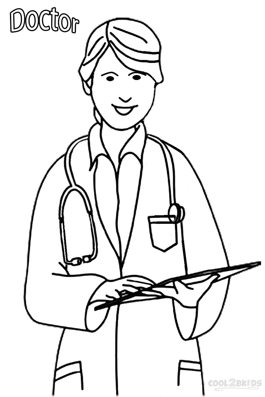 free doctor coloring pages - photo#2