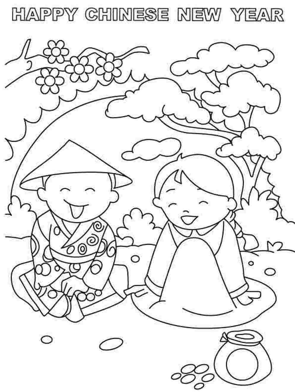 It's just a photo of Amazing free chinese new year coloring pages