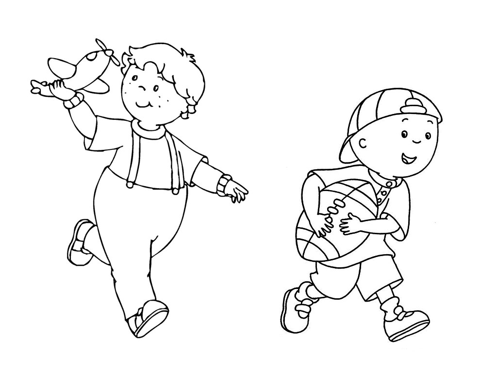 caillou coloring pages to download and print for free