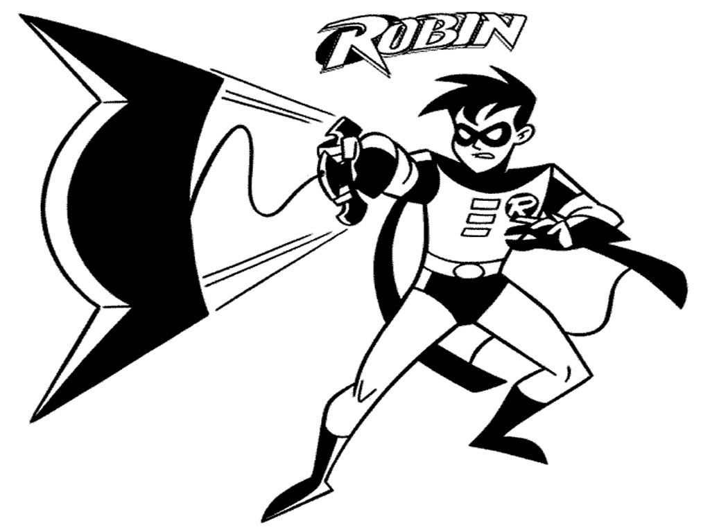 It is a picture of Crazy batman and robin coloring pages