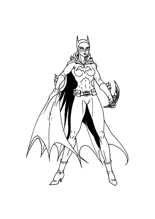 Batgirl coloring pages to download and print for free
