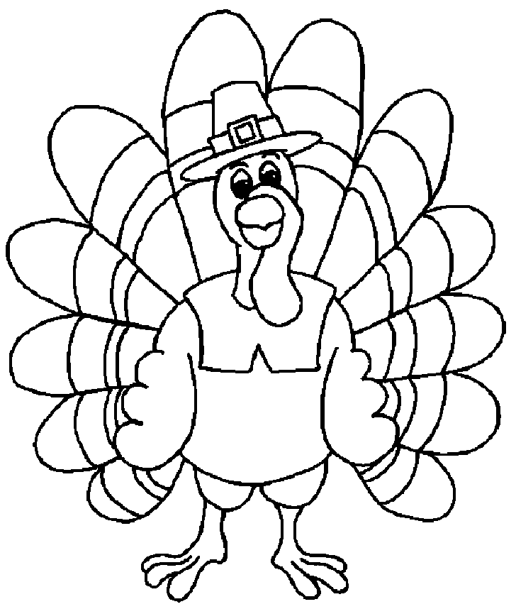 Turkey coloring pages to download and print for free