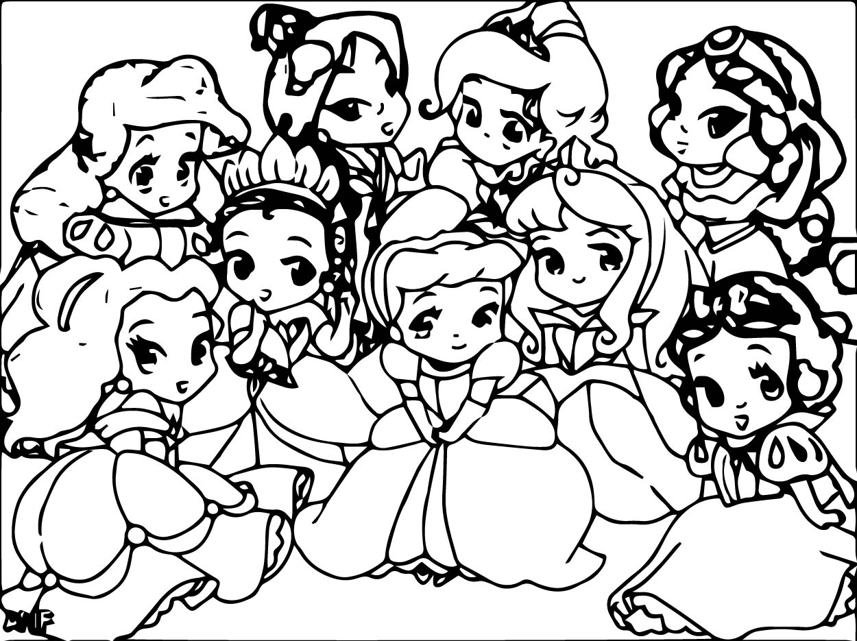 Charming Baby Princess Coloring Pages