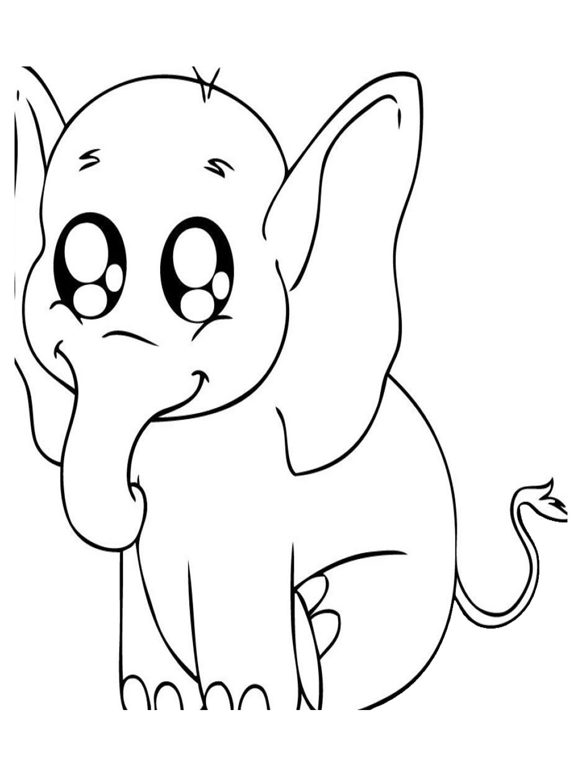 It is a photo of Accomplished Elephant Coloring Pages Printable