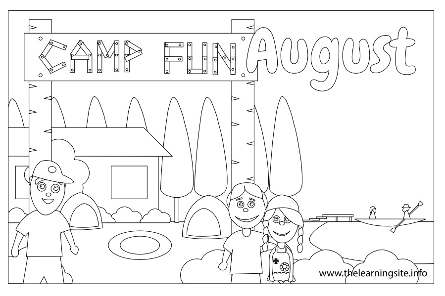 coloring pages for august - photo#30