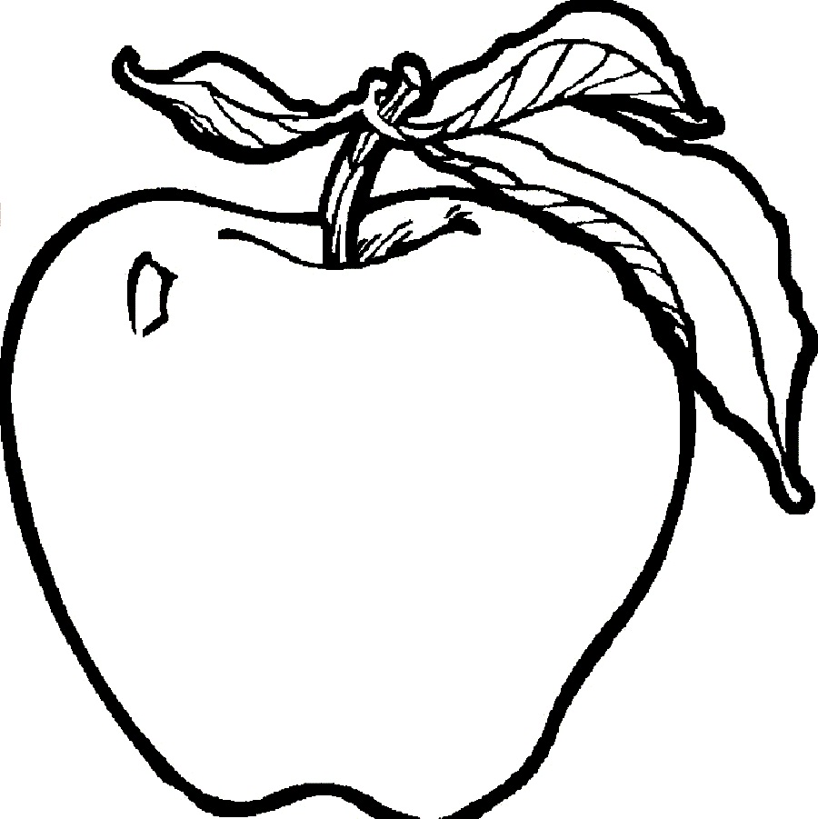 Apple coloring pages to download