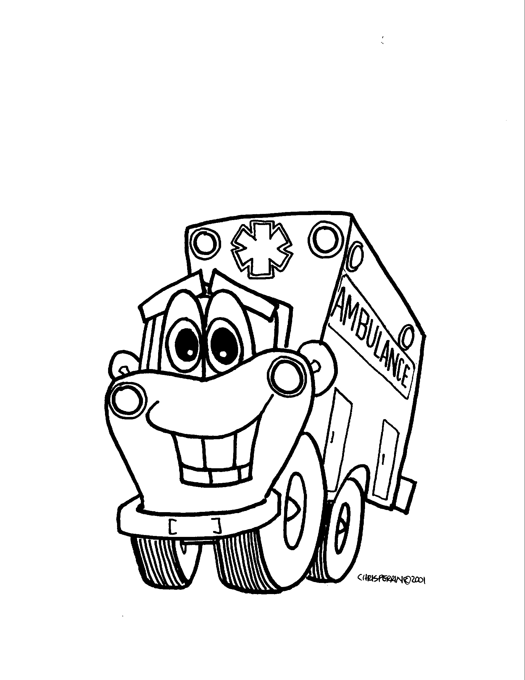 best friend coloring pages - Ambulance Coloring Pages Kids
