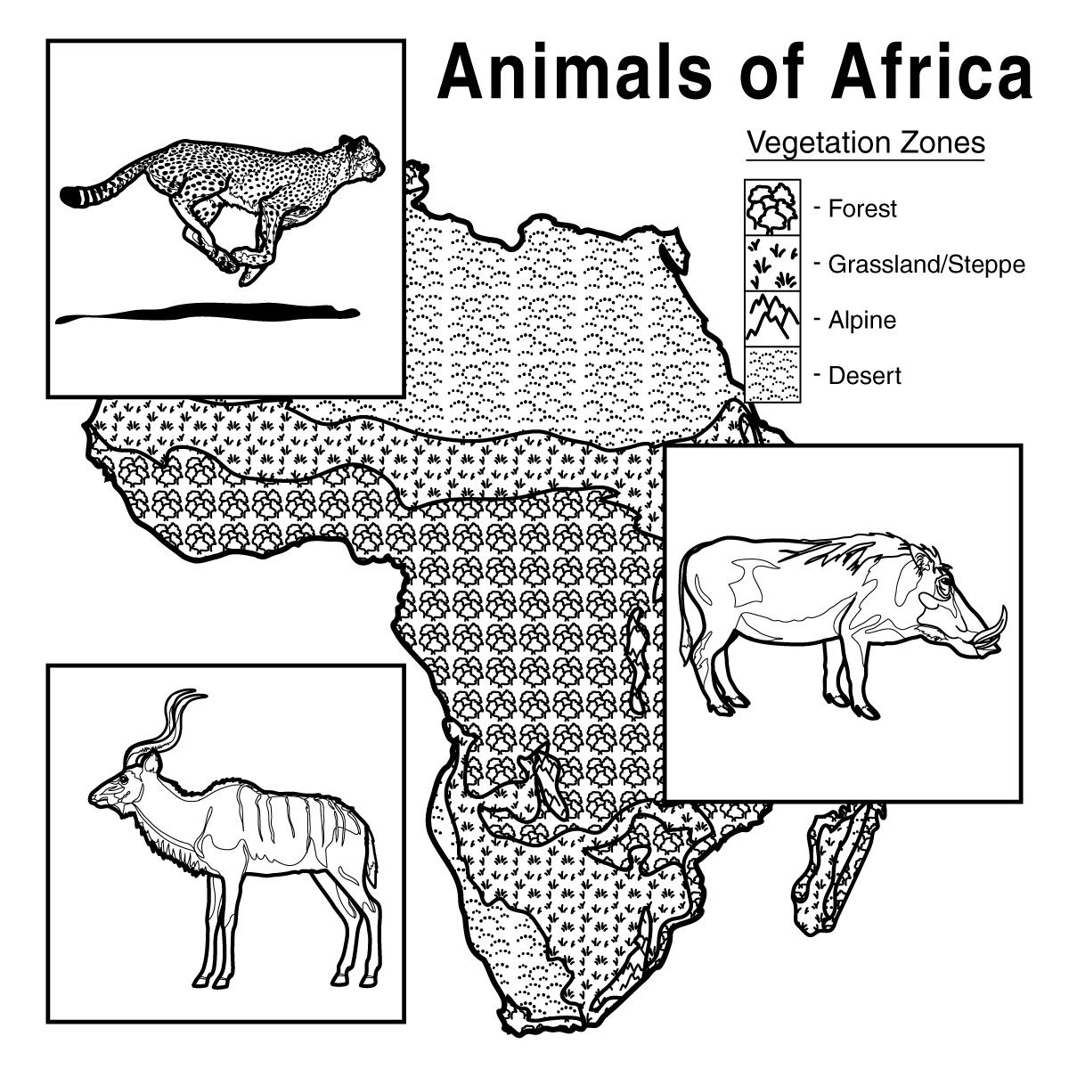 Africa coloring pages to download