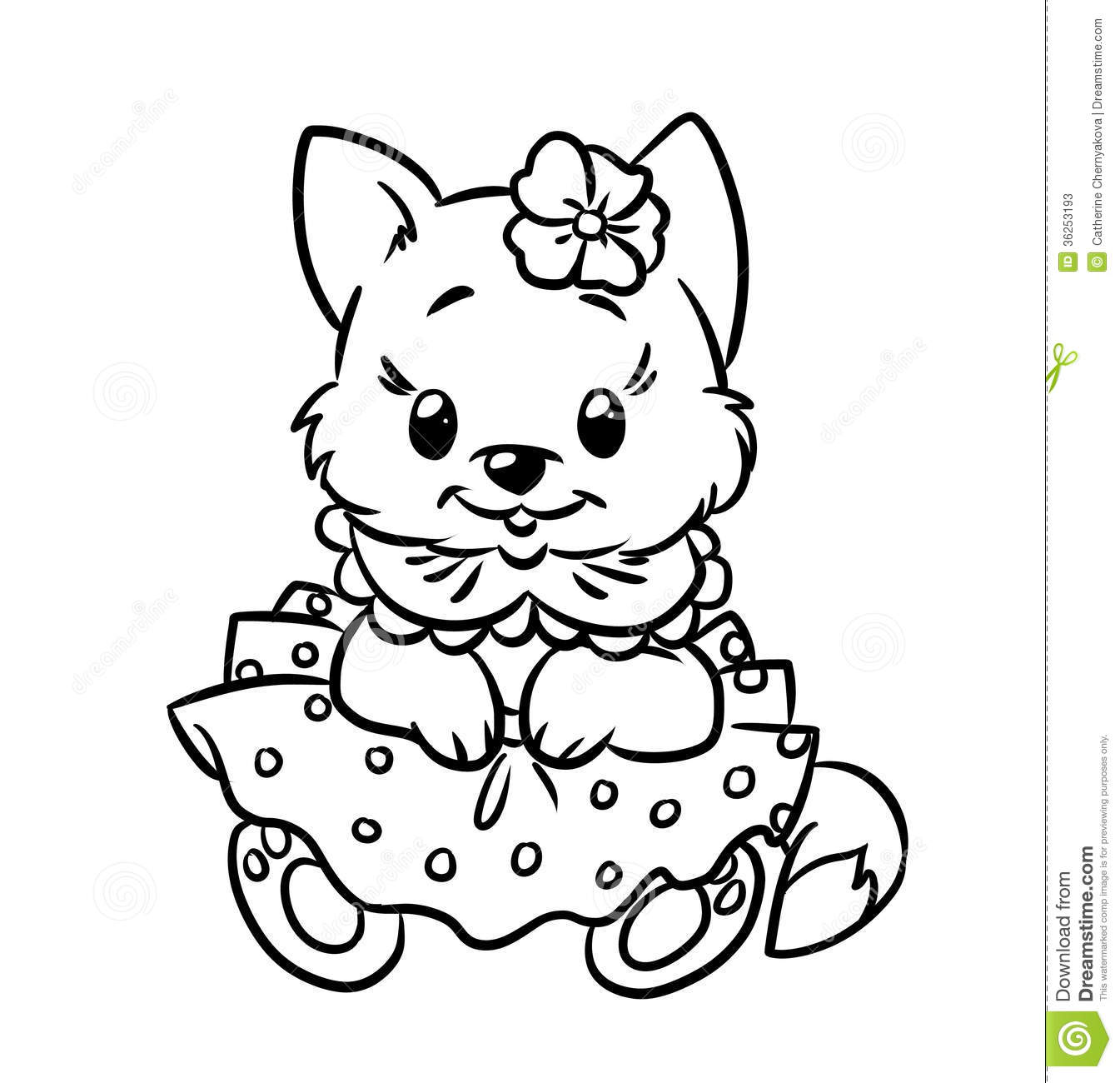 Kitten coloring pages to download and print for free