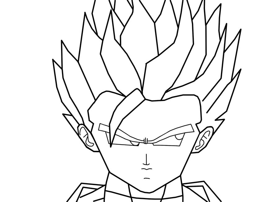 goten coloring pages - photo#22