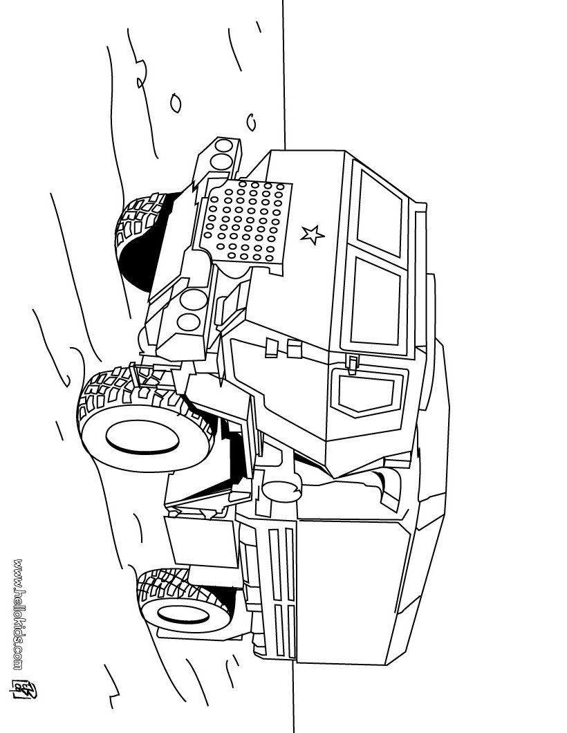 Tank coloring pages to download