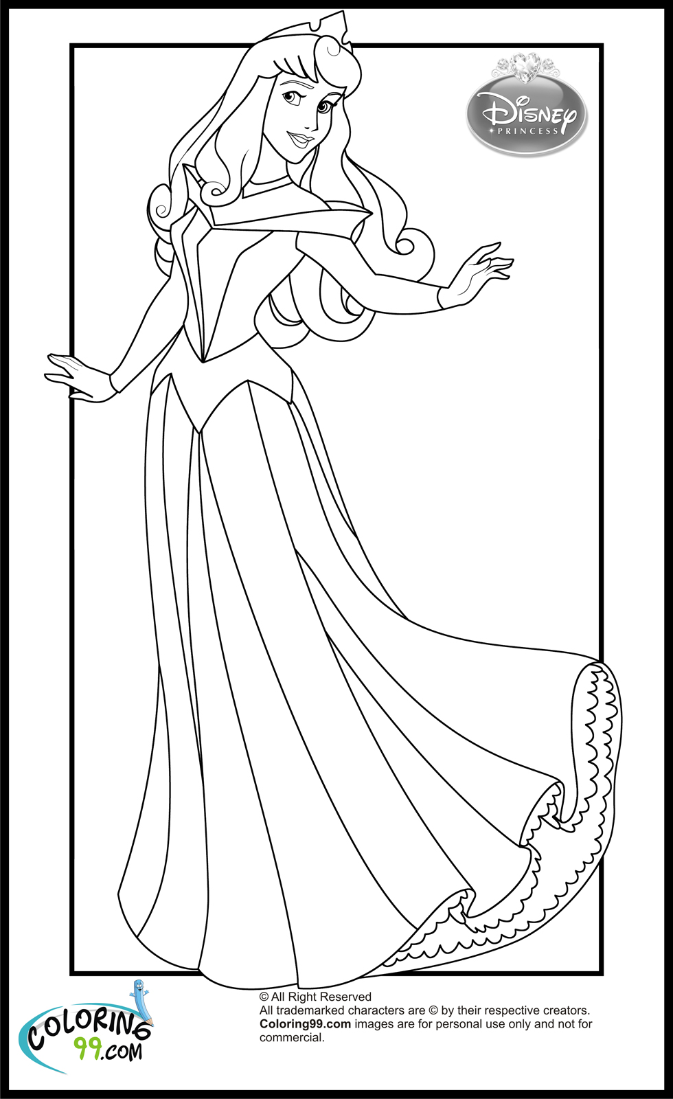 Disney Princess Coloring Pages Download : Aurora disney princess coloring pages download and print