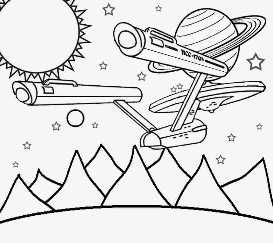 star trek coloring pages to download and print for free