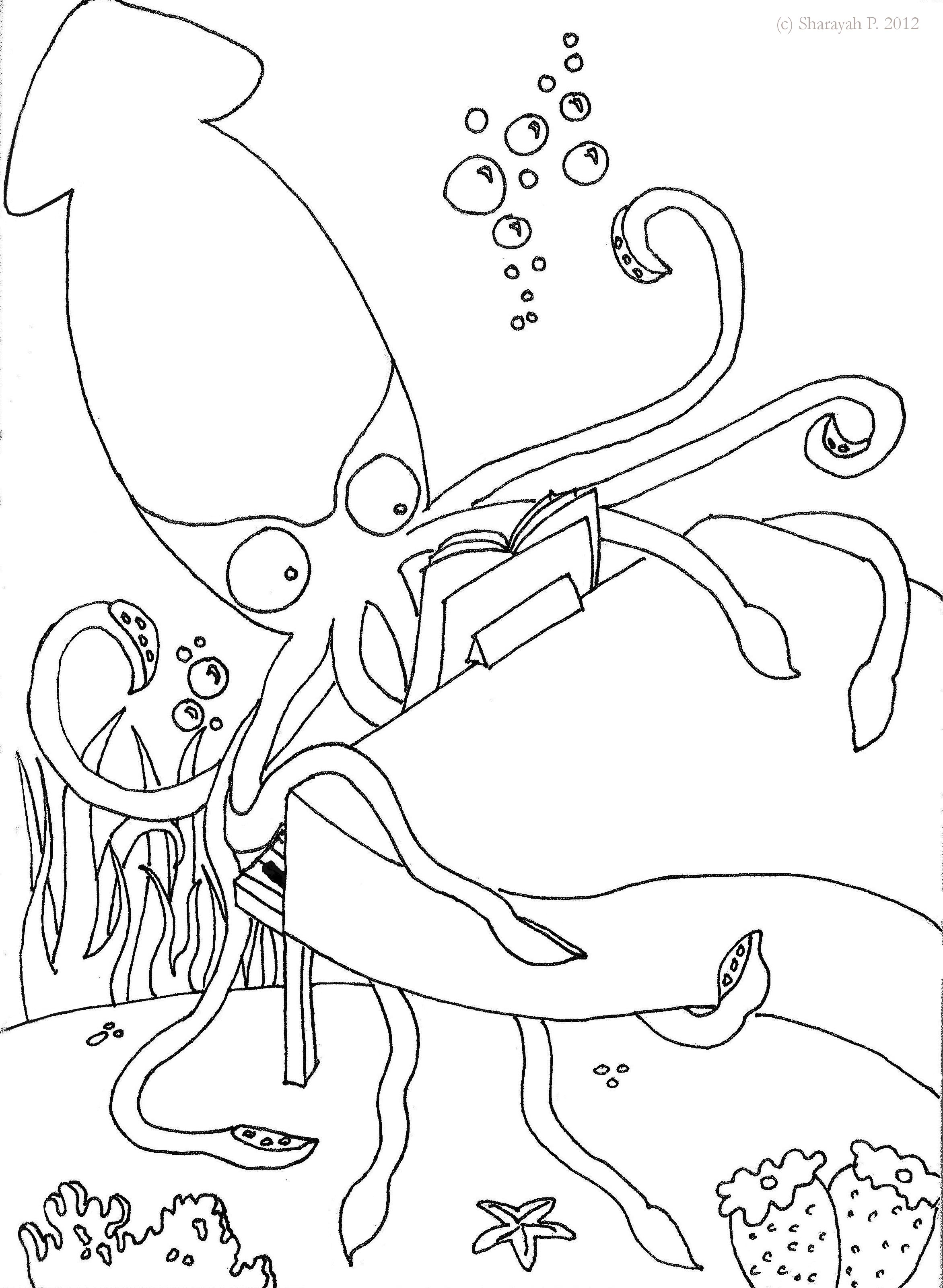 12226 Vampire Squid C2016 School Zone How To Draw Anime Punk