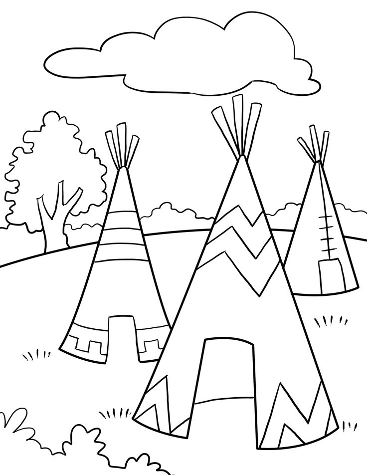 american indian kids coloring pages - photo#22