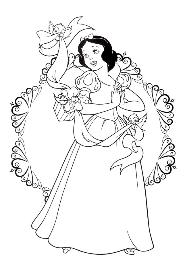 Snow white coloring pages to download