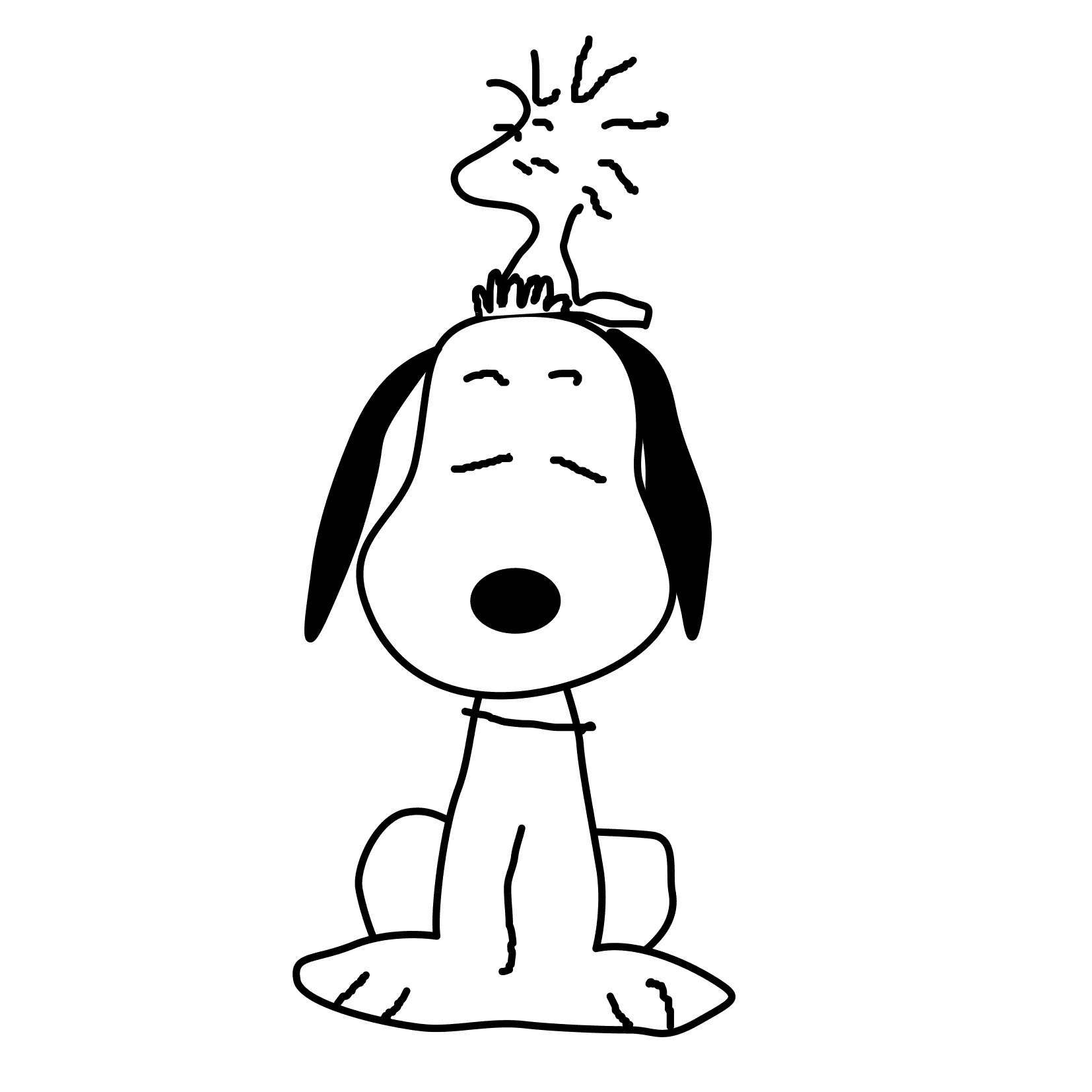 Snoopy coloring pages to download and print for free
