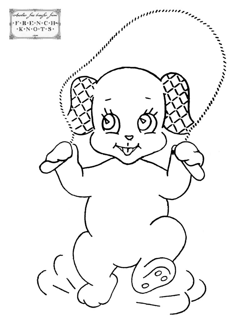 Jump rope coloring pages download