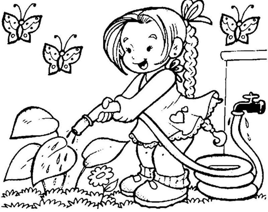 Springtime coloring pages for adults - Great Spring Coloring Pages