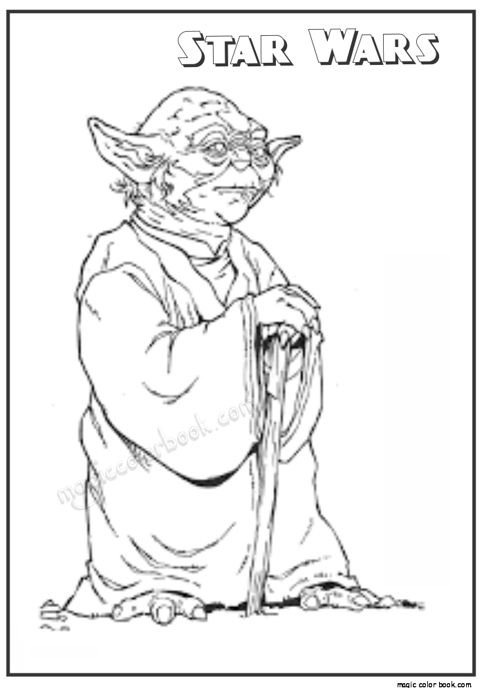 Malvorlagen Kostenlos Star Wars: Star Wars Yoda Coloring Pages Download And Print For Free