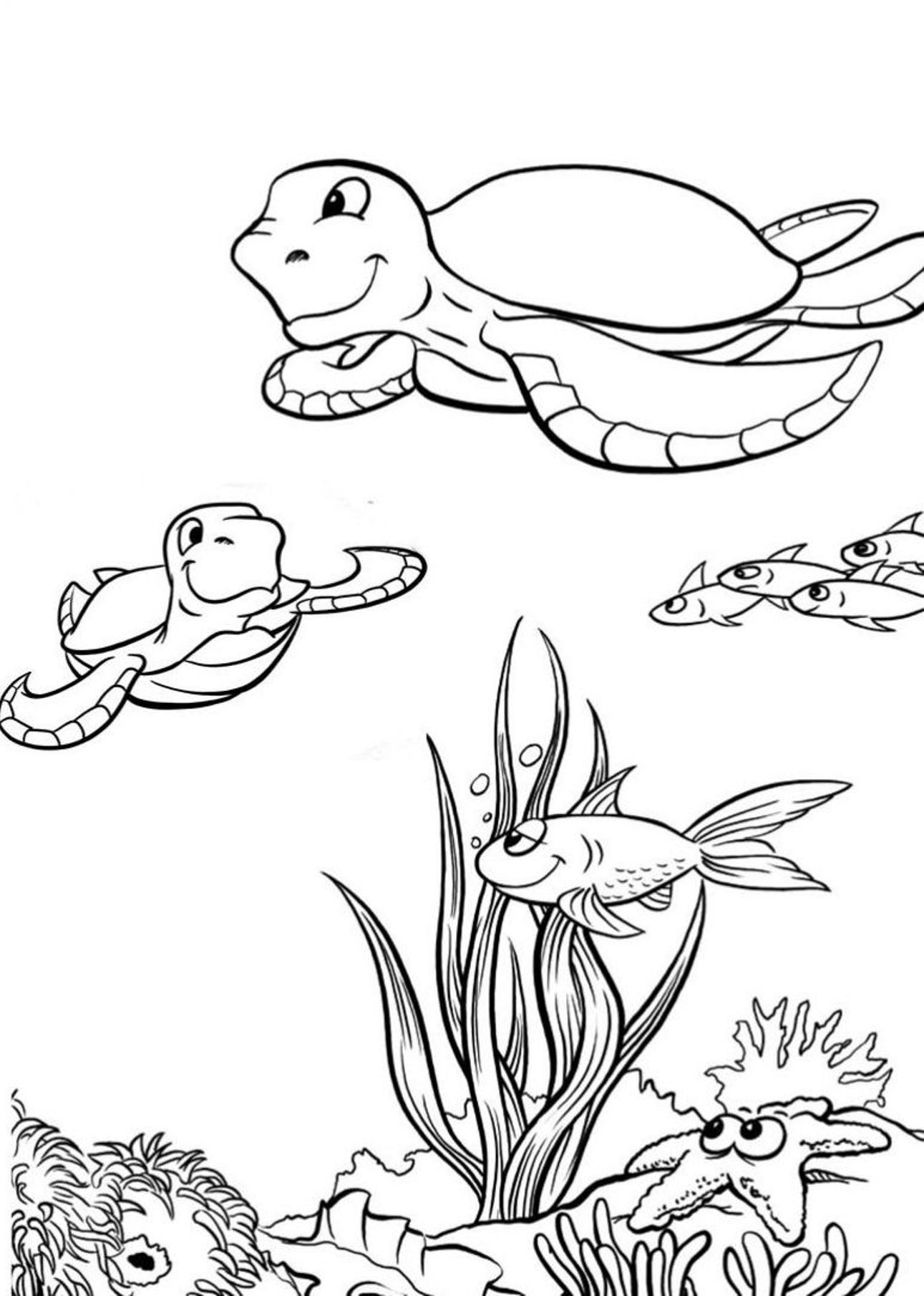Sea turtle coloring pages to download