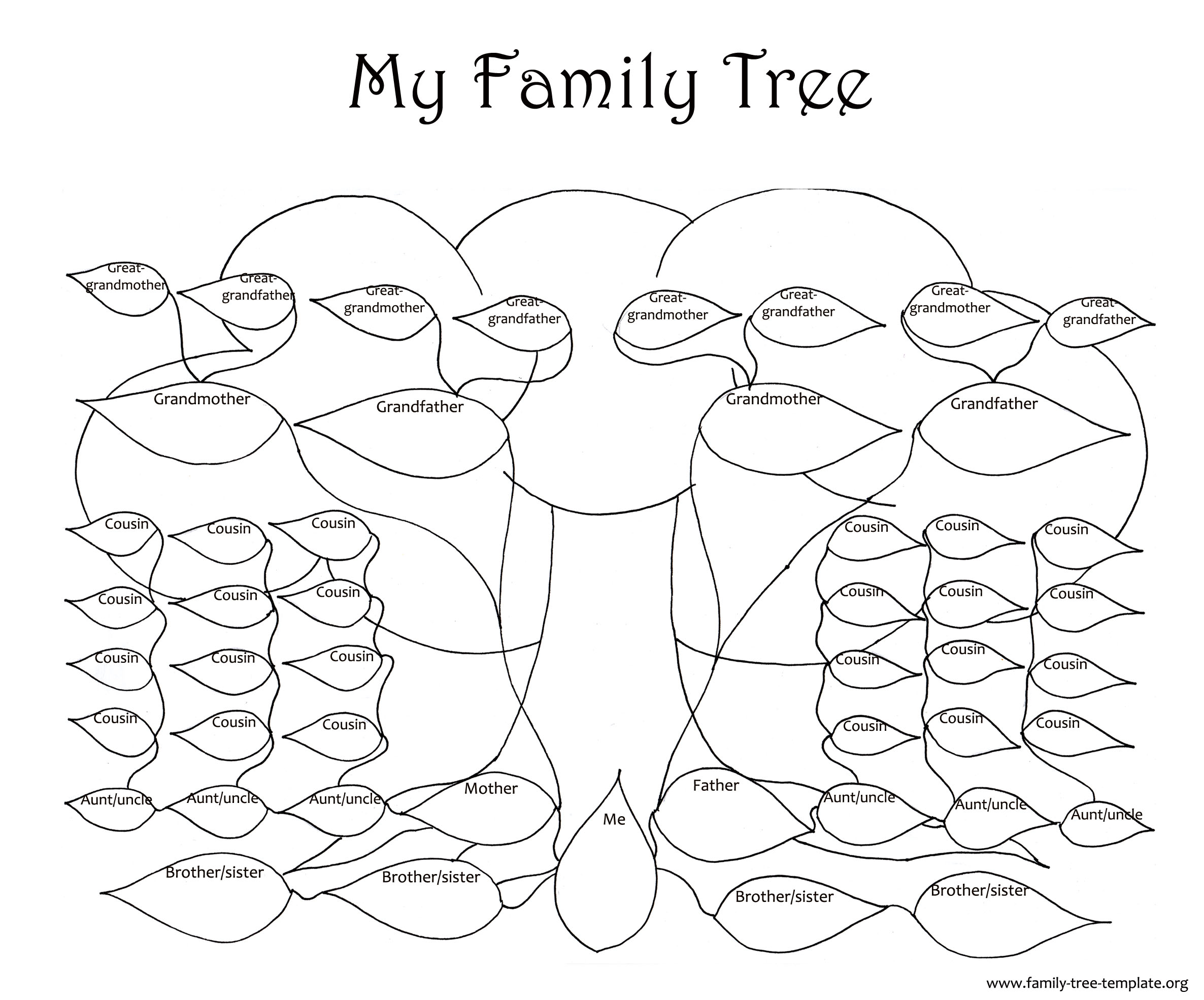 Family trees coloring pages download