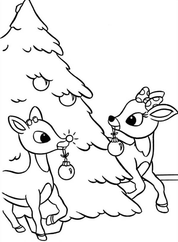 Baby rudolph the red nosed reindeer coloring pages